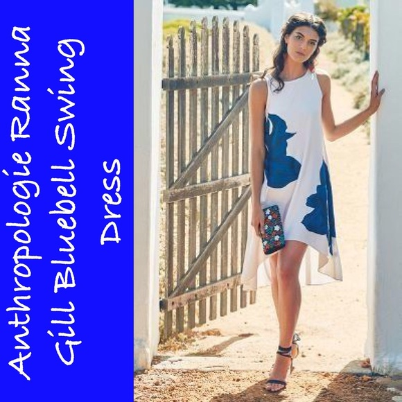 9e539f33621cc Anthropologie Dresses | Ranna Gill Bluebell Swing Dress | Poshmark